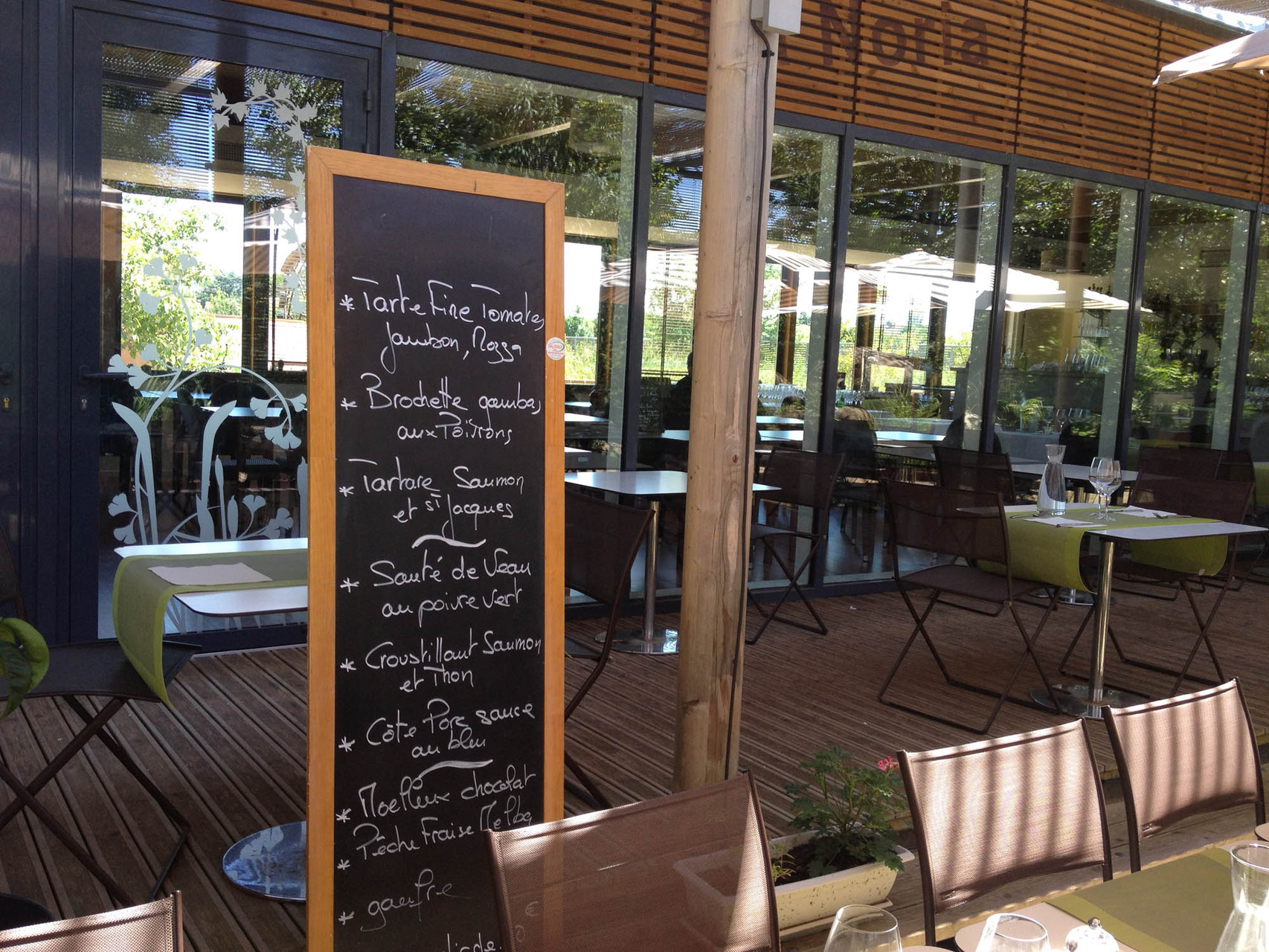 menu terrasse la Noria Toulouse